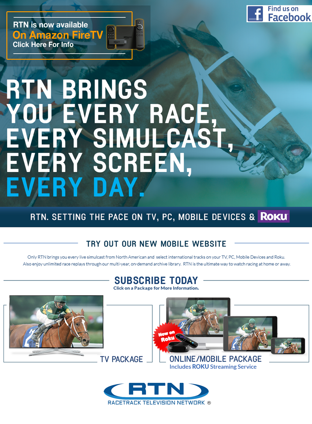 Racetrack Television Network - Home Page
